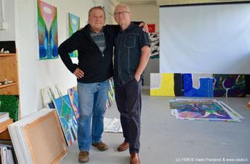 Dr. Wieslaw Piechocki und Vlado Franjevic in Vlados Atelier