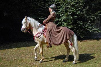 """Christine auf Abel bei der """"Belagerung von Soest"""""""