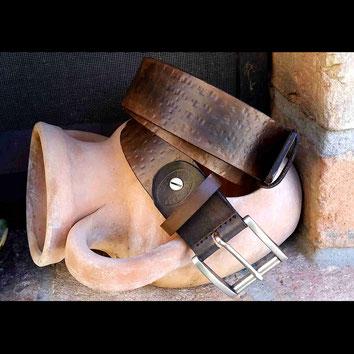 cintura in cuoio artigianale rustica