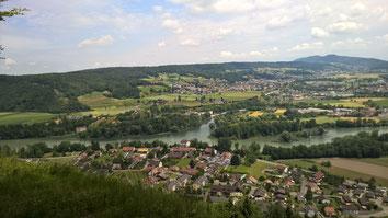 2015 - Sicht auf Lauffohr vom Bruggerberg (Quelle: Privatfoto)