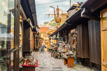 Sarajevo top things to do - Old Town - Copyright  Jason Drury