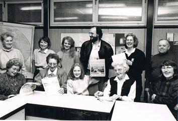 Pressekonferenz zum 1. Derner Geschichtskalender 1992                  Foto: Schaper