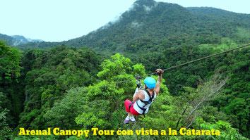 Mundo Aventura Canopy Tour con vista a la Catarata
