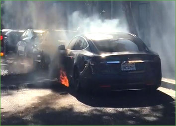 Tesla in Flammen