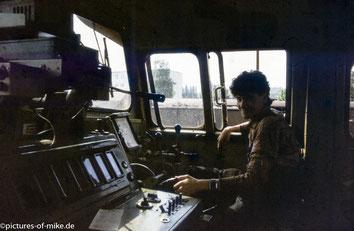 Anfang der 1990 Jahre auf dem Rangierbahnhof Pirna