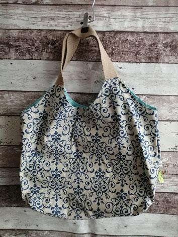 Shopper Ornamente Ornatment Barock Barok Einkaufstasche Tragetasche Tasche Beutel Handtasche handgemacht Handarbeit handmade SaSch Selbstgefertigtes aus Schwaben