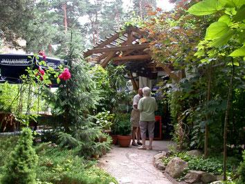 Eingang zum Restaurant im Ferienpark Taura