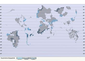 Hauptniederschlagsgebiete