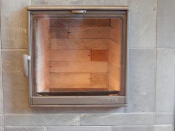 Strakke Tulikivi bovenaansluiting speksteenkachel