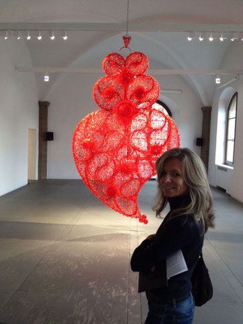 Il cuore di Joana Vasconcelos al museo Gucci di Firenze