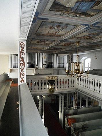 Bild: Teichler Seeligstadt Sachsen Dorfkirche Orgel