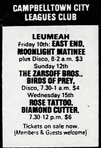 AD from The Sydney Morning Herald 10. June 1983, Page 16