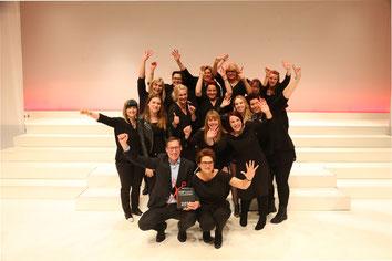 Team auf der Top Hair in Düsseldorf