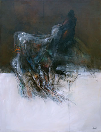 Homme Acrylique sur toile Dim 116cmx89cm