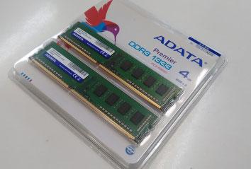 デスクトップ用DDR-3メモリの写真