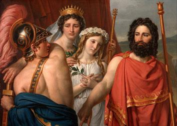 Jacques-Louis David, La Colère d'Achille, 1819. Domaine public / Wikiepdia.org