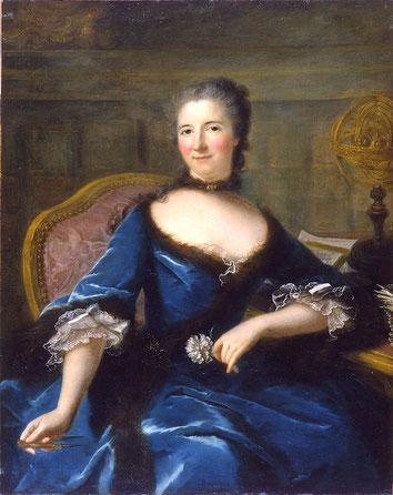 Marianne Loir, « Portrait de la Marquise du Châtelet », 1748. Musée des Beaux-arts de Bordeaux Source : Wikipedia.org / Domaine public.