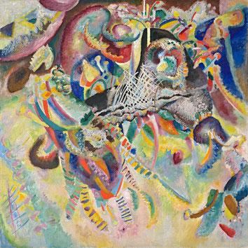 Kandinsky, Fugue, 1914, fondation Beyeler (Riehen). Source : Wikipedia.org / Domaine public.