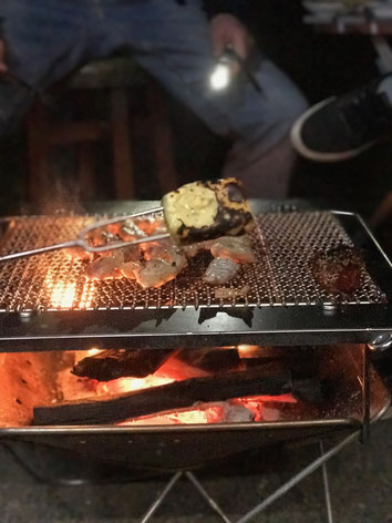 焚火 チーズ