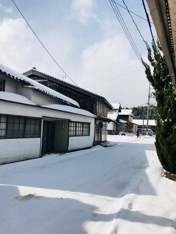 隠岐の島 京見屋分店 冬 西町 雪景色
