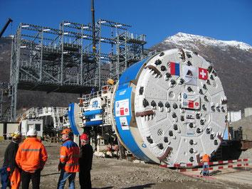 Tunnelier à Sigirino (Ceneri)