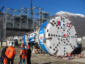 Tunnel boring machine, Sigirino (Ceneri)