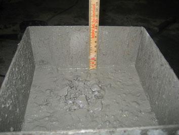Essai de compactage d'un béton frais