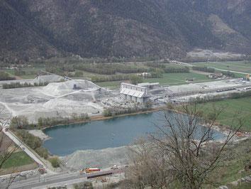 Site de gestion et valorisation du matériel excavé de Raron (Lötschberg)