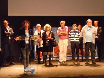 Vendredi 22 avril 2016, Catherine Poulain reçoit le Prix Livre & Mer Henri-Queffélec © Livre & Mer 2016