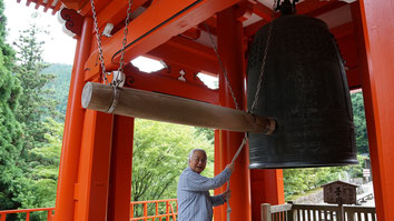 Professor Ikeda showed us a temple at mount Daihieihieizan with