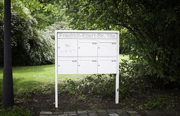 Freistehende Briefkastenanlage Knobloch