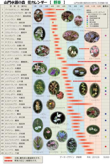 花カレンダー(野草)