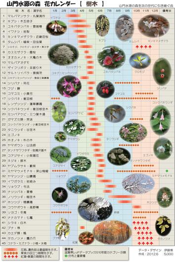 花カレンダー(樹木)
