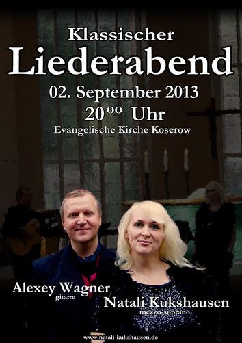 Liederabend in der Evangelischen Kirche Koserow vom 02.September 2013
