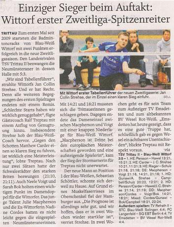 1. Spieltag, Holsteinischer Courier 15.09.2014