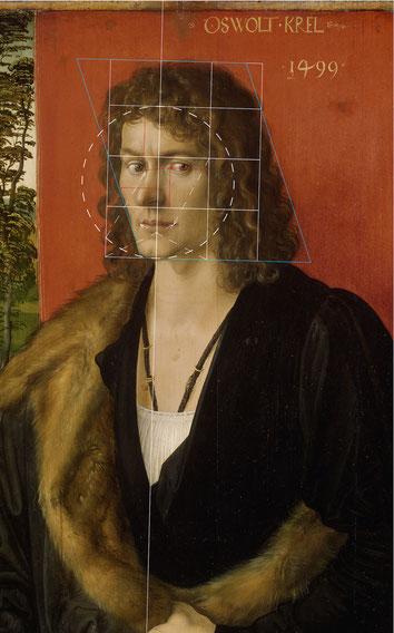 (Bild 23) Albrecht Dürer, Bildnis Oswolt Krel (Teil eines Triptychons), 1499, Öl auf Lindenholz, 49,7 x 38,9 cm, Inv.Nr. WAF 230, Alte Pinakothek München / Bayerische Staatsgemäldesammlungen