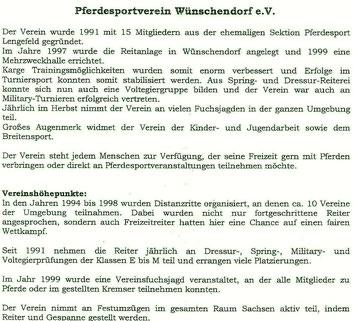 Bild: Wünschendorf Erzgebirge Pferdesport