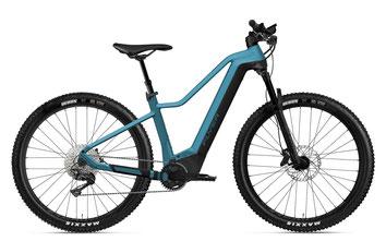 E-Mountainbike FLYER Uproc4 8.70 jeansblau/rot