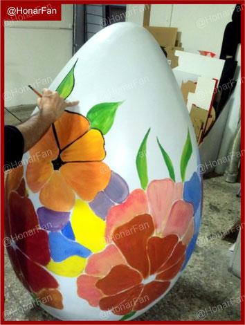 ساخت تخم مرغ رنگی بزرگ نوروزی ، ساخت المانهای نوروزی ، قیمت تخم مرغ رنگی 2 متری