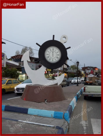 ساعت شهری تندیس شهری المان شهری مبلمان شهری خاص اصول طراحی المانهای شهری در اروپا آمریکا تهران اصفهان بندر