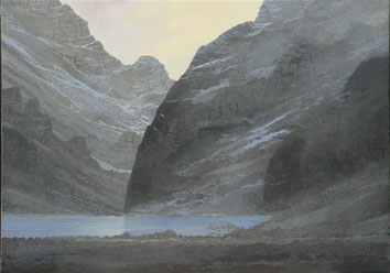 Martin Guido Becker, Gebirgslandschaft, 2007, Öl/Lwd, 50/70 cm