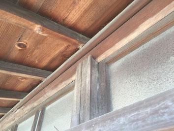 丸桁、欄間窓