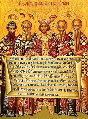 L'édit de Thessalonique en 380 et le concile de Constantinople en 381 aboutiront à la définition complète de la doctrine de la Trinité (credo) en y ajoutant la troisième personne ou hypostase : le Saint Esprit. Les 3 hypostases toutes Dieu.