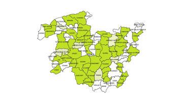 Communes adhérentes au CEP au 19 avril 2017