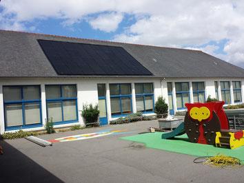 1 des 5 installations photovoltaïques réalisée dans le cadre du programme Hanter Kant