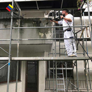 Wir, das Team vom Pauli Malerbetrieb, führen für Sie die sachgerechte Fassadenreinigung an Ihrer Immobilie im Großraum München