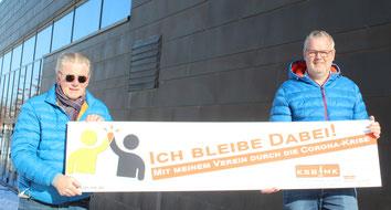 v.l. Günther Nülle (KSB MK), Olaf Klein (Vorsitzender HTV)