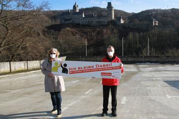 v.l. Anja Esser (KSB MK), Klaus-Peter Trappe (Vorsitzender Stadtsportverband Altena)