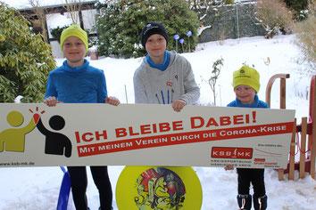 v.l. Ben, Max, Johannes (Jugend des KSC-Hemer)