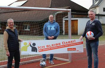 v.l. Dietmar Schäfer, Holger Ballauf, Jens Lehrke (Geschäftsführender Vorstand TV Griesenbrauck)
